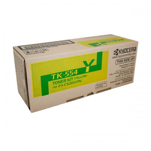 Kyocera TK-554Y Yellow Toner