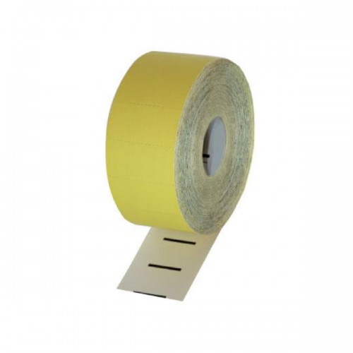 Thermal Cardboard Single Shelf Tickets Yellow