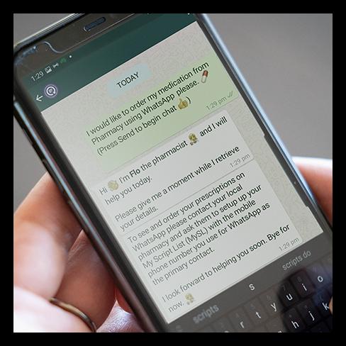 WhatsApp prescription ordering